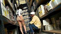 Eva Gomez takes on Ramon in the stockroom
