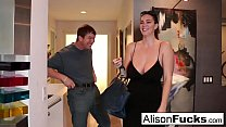 Busty Alison Tyler meets her Catfish then fucks his friend!