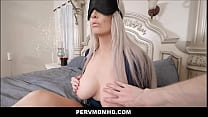 Blonde Big Ass Big Tits MILF Stepmom Brook Page Family Sex With Stepson Thinking It's His Dad While Blindfolded POV