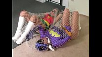 BatGirl trapped in a net