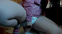 I am your little girl who pees a lot inside her diapers do you want to see dad?