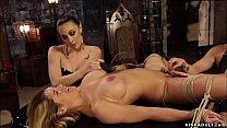 Busty lesbian MILF anal threesome