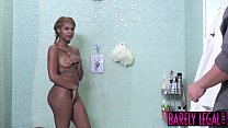 Ebony babysitter Zoey Reyes plowed and blasted with cum