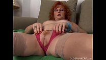 Sexy old spunker is a squirter when she masturbates
