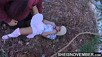 Spread Eagle By Moms Husband And Fucked Missionary On The Forest Grass, Innocent Blonde Ebony Step Daughter Msnovember Cheating With Moms Man, Skirt Pulled Off  Young Ebonypussy Penetrated Kinky Fauxcest on Sheisnovember