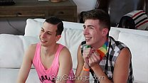 GayCastings - Threesome gay pride casting fuck