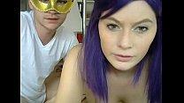 Amateur couple love to make sex on webcam