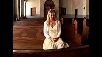 blonde teen in church