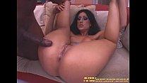 latina girl with round ass rides big black cock for interracial porn