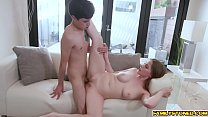Melody Marks gives stepbro some practice inviting him to enter her sweet teen pussy
