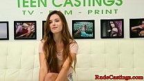 Bound teen hardfucked at casting