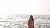 Dogging Around Barcelona's beaches! Even Voyeurs cum on Monica's mouth