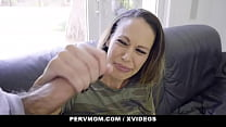 Sexy stepmother (Mckenzie Lee) thinks this big dick is a Lollipop - PervMom