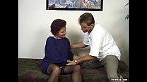 German granny enjoys threesome