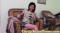Shaved Asian Teen Jenny Pimped by Her Friend