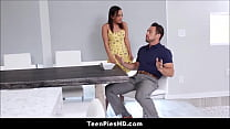 Italian Teen Stepdaughter Amara Romani Wants To Be Pregnant & Gets A Creampie From Stepdad