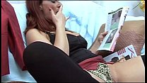 Hot mom caught by her son whatching porn magazine