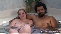 Amateur interracial couple make their first porn video