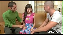 Pretty legal age teenager is moaning lustily as hunk drills her tight cookie