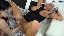 Milf with big natural boobs fisted by younger girl!