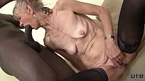 Granny fucked hard in her ass by black guy she gets creampied