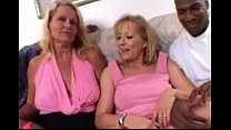 Blonde Moms share a Big Black Cock together in Amateur Wife Threesome Video
