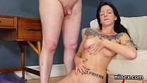 Kinky chick is brought in anal asylum for uninhibited therapy