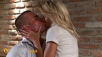 ORGASMS Young couple in love creampie for teen blonde
