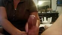 Fat lady gives a handjob