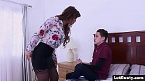 Fat ass and big tits MILF gets anal fucked and face sitting