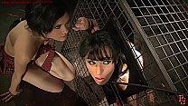 Cruel double punishment. BDSM bondage sex movie.