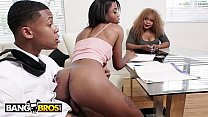 BANGBROS - Lil D Fucks His Tutor Mya Mays In Front Of His Mom! WTF