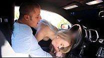 FantasyHD car wash sex orgy with two girls