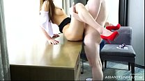 Beautiful Chinese model sucks the cock of her photographer