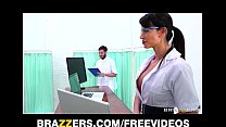 Two red laced vixens seduce one lucky guy into a threesome