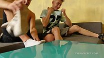 Twinks Jack and Dominik Foot Fetish Fuck