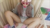 babygirl is really insatiable. he wants to please his father by sucking him hard, as he does with his pacifier