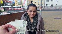 European amateur fucks in public for cash