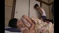 japanese sleeping mom
