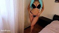 Big boobs blue hair stranger takes my creampie