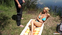 Fake cop fucks busty sinner by the lake