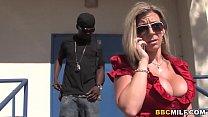 Big Titted Cougar Sara Jay Fucks Black Dick