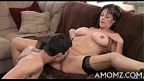 Mama gets her anal creampied
