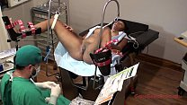 Tori Sanchez - Tampa University Physical Exam - Part 7 of 8 - Busty ebony gets examined by doctor and f. to orgasm while spread eagle in the stirrups