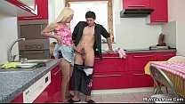 Wife comes in and sees mother riding her man's cock