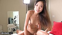 Real Teens - Vina Sky twerks her asian teen pussy on a dick