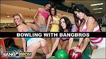 BANGBROS - Bowling For Pornstars With Rachel Starr, Diamond Kitty, Alexis Fawx, Brandy Aniston, and Anastasia Morna