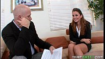 Lovely brunette Allie Haze fucks her job interviewer