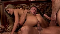 Double anal for the blonde with small tits
