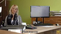 LOAN4K. Blonde angel Katy Rose gladly passes dirty casting